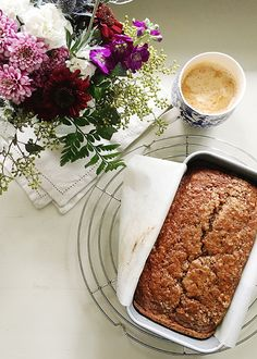 Applesauce Spice Bread made with homemade roasted applesauce. This bread can be mixed and oven ready in less than 10 minutes. Delicious toasted with butter.