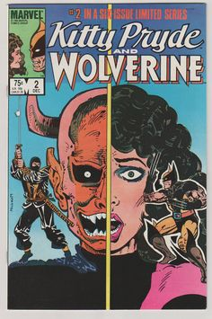 Kitty Pryde and Wolverine V1 2.  NM.  by RubbersuitStudios on Etsy #wolverine #xmen #comicbooks