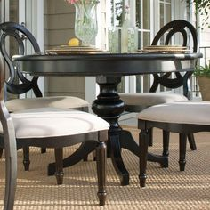 Print Of Beautiful Granite Dining Table Set Perfect Dining Room - Wood pedestal dining table