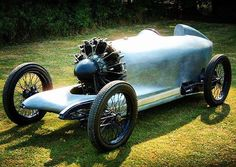 I'd sure love to take this radial engine racer for a few laps down the beach! #radialengine #speedster