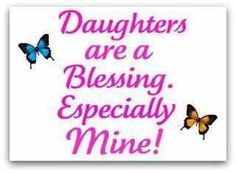 I love my daughters!