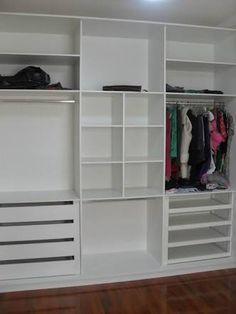 Resultado de imagem para interior de guarda roupa planejado