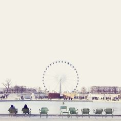 Jardin de Tuileries, Paris — the perfect place for strolling, lounging and particularly chic people-watching.