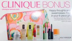 Clinique gift for Canada - purchase $45 and receive this 8-piece gift. http://clinique-bonus.com/canada/