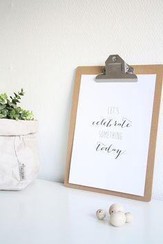 Printable: Let's celebrate! | Peek Inside