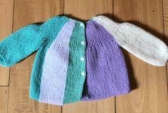 Saquito tejido para bebé