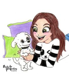 Yey! @KarolSevillaofc and Homero! Her adorable puppy!  I hope see Homero on her next videos of her YouTube channel!  I hope you like it! / Yey! Karol Sevilla y Homero! Su adorable cachorro!  Espero ver a Homero en alguno de los siguientes...