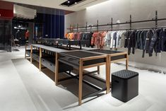 The Stone Island Store in Toronto at 104 Yorkville Ave, Canada. Stone Island Store, Store Design, Toronto, Canada, Room, Furniture, Home Decor, Homemade Home Decor, Decoration Home