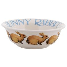 Emma Bridgewater 'Happiness is a Bunny' Cereal Bowl