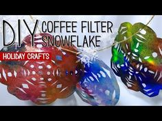 Beautiful Craft for Kids: Coffee Filter Snowflakes | Play | CBC Parents