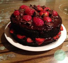 Jacki's Feed - Strawberry Black Forest Cake (grain-less: made with kumara, you wouldn't believe it!)
