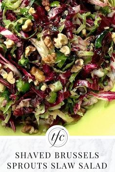 Shaven Brussels Sprouts Slaw Salad Recipe | Healthy Lunch Idea | Healthy Side Dish |