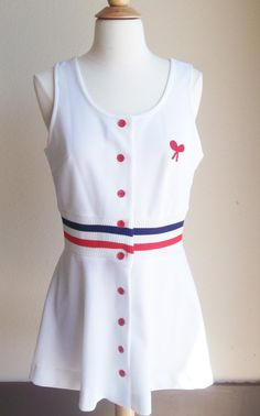 Vintage Red White and Blue Tennis Dress