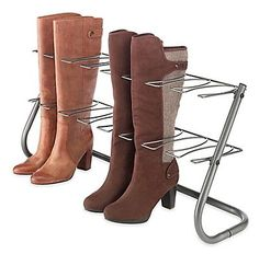 Shop at DormCo for our Dorm Boot Stand in Steel Gray! Our Dorm Boot Stand holds four pairs of boots upright to keep their shape and condition so your boots always look nice. This dorm boot stand can fit in dorm closets to maximize on dorm room storage! Boot Organization, Shoe Organizer, Organizers, Organization Ideas, Handbag Organization, Bedroom Organization, Boot Storage, Closet Storage, Storage Racks