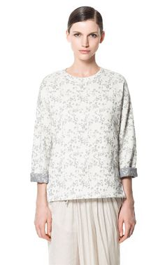 Image 1 of PRINTED JAPANESE TOP from Zara
