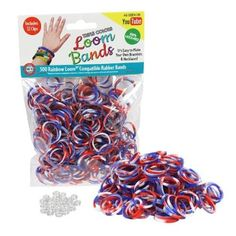 Amazon.com: Loom Rubber Bands - 300 Pc Triple Color Rubber Band Refill Pack (Red, White, Blue) - 100% Latex Free and Compatible with All Loo...