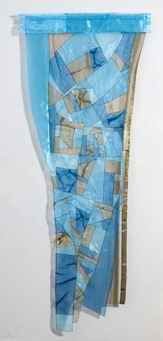 """""""Rhapsody in Blue"""" by Leonie Castelino - Polyester organza (flat, folded or sculpted), pieced with triple hairline seams."""