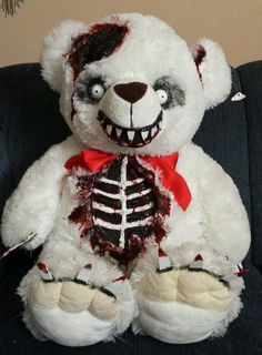 Valentines Day Zombie Teddy Bear 30 inch!...is it bad that I would give this to kids? xD