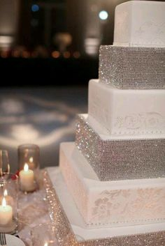 Bling out wedding cake