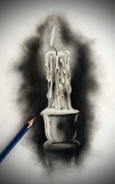 Tattoo Design - Candle by badfish1111 on DeviantArt