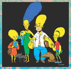 The Simpsons by Rocio Cañero