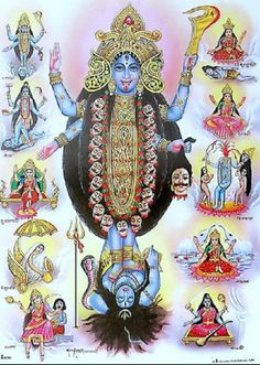 The Mahavidya Mothers are KALI: the Eternal Night, the Goddesses of Time, TARA: The Goddess Who Guides through Troubles, TRIPURASUNDARI: She who is Lovely in the Three Worlds, BHUVANESVARI: She Whose Body is the World, CHINNAMASTA: The Self-Decapitated Goddess, BHAIRAVI – The Fierce and Terrible, DHUMAVATI: The Widow Goddess, BAGALAMUKHI: The Paralysing Goddess, MATANGI: The Outcaste Goddess and finally KAMALA, the ever-beautiful Lotus Goddess.