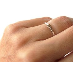 Sterling Silver Initial Rings by Tiny Armour