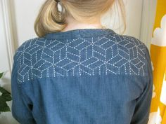 sashiko ! A really good site with step by step tutorial how to make this !