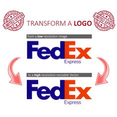 Fast Change and transform a LOGO from IMAGE or PHOTO to VECTOR