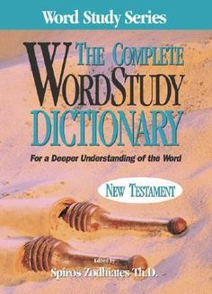 Complete Word Study Dictionary: New Testament  This dictionary series is a little spendy (on sale the 4 books are $100).  However, they are worth it.  I have been using them with Olive Tree software and they are worth every penny.