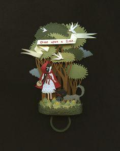 Little Red riding Hood. A paper ring. by Elsita (Elsa Mora), via Flickr