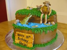 30th Birthday Fishing Theme Cake