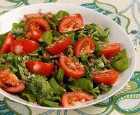 Cantinho Vegetariano: Salada de Rúcula com Tomate (vegana)