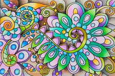 Wal Art, Chameleon Color, Color Card, Adult Coloring, Color Inspiration, Colored Pencils, Art Drawings, Gallery, Floral
