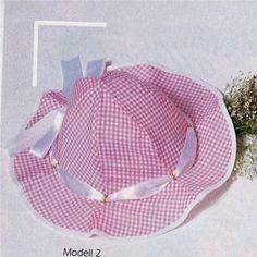 Chapéu de tecido para crianças-dica e molde