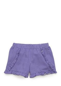 J. Khaki Purple Dot Polka Dot Ruffle Shorts Toddler Girls