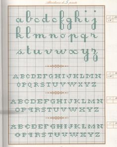 Various cross stitch alphabet charts / alphabet patterns, but may also be used for: crochet, knitting motifs, knotting, loom beading, Perler beading, weaving and tapestry design, pixel art, micro macrame, friendship bracelets, and anything involving the use of a cha