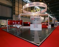 Know your audience. Island stand for RedSpeed at Traffex