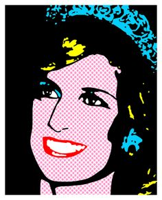 Princess Caroline of Monaco by Andy Warhol (1983). Description from pinterest.com. I searched for this on bing.com/images