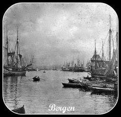Bergen , Vaagen 12th Century, The St, Capital City, Bergen, West Coast, Sailing Ships, Norway, Medieval, Survival