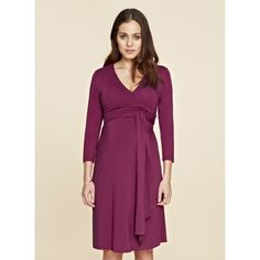 The Wrap Maternity Dress -  Berry