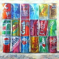 Pop Art  - Oil on on Canvas 60 x 67 Unframed
