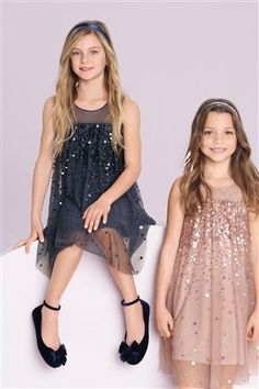 Buy Sequin Tunic online today at Next Direct United States of America Little Girl Dresses, Dresses For Teens, Nice Dresses, Girls Dresses, Club Dresses, Fall Outfits, Kids Outfits, Woman Outfits, Club Outfits