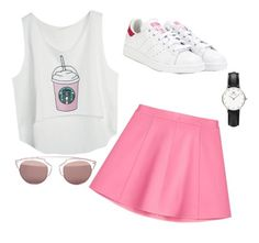 """""""Untitled #337"""" by omeronur ❤ liked on Polyvore featuring RED Valentino, adidas, Daniel Wellington, Christian Dior and summerbbq"""
