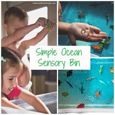 A simple ocean sensory bin for those days when you're too busy for something complicated!
