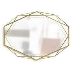 Umbra Prisma Brass Plated Geometric Mirror 358776-165