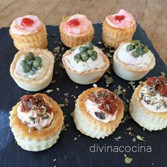 You searched for Canapes - Divina Cocina Chef Recipes, Brunch Recipes, Appetizer Recipes, Cooking Recipes, Mini Vol Au Vent, Good Food, Yummy Food, Appetisers, Easy Cooking