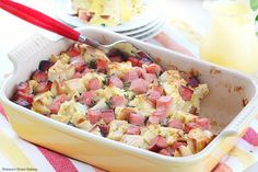There is nothing like waking up to a delicious eggs benedict casserole awaiting you with little or no effort on your part just ready to be placed in a hot oven.
