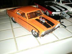 1/25 '66 Chevy Nova Pro Street (amtamt636) AMT Plastic Model Cars Trucks Vehicles 1:20-1:29 Scale