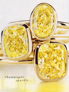 I just really love yellow diamonds.  Someday I will have one like this.  I prefer the plain look!!!!